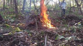 कुडासे -येथे सोमवारी मृत स्थितीत आढळलेल्या माकडावर ग्रामस्थांनी अंत्यसंस्कार केले.