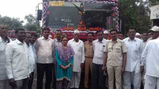 First bus departs for Pandharpur Yatra from Akola
