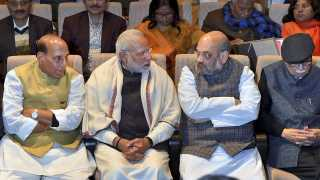 Amit Shah Nanrendra Modi LK Advani Rajnath Singh