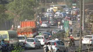 representational image of traffic jam at Chandani Chowk in Pune