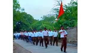 Parade for the first time on the occasion of Dasara in Kedgaon