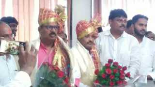 Dilip Mane as the Chairman of Solapur Market Committee Shrishail Narole as Deputy Chairman