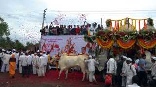 SaathChal Saint Sopanadev Palkhi Celebration Flowering