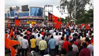 Maharashtra Bandh Maratha Kranti Morcha at talegaon dabhade