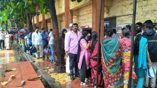 78 per cent voting in continuous rainy season