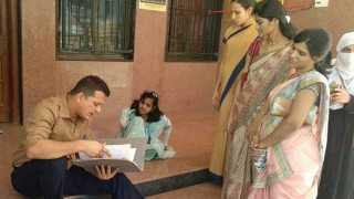 District Collectorate gave relief to a handicap woman