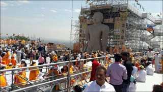 बाहुबली मूर्तीच्या महामस्तकाभिषेक सोहळ्यास सुरुवात