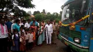 For the first time since independence bus ran at Ganeshpipri Adewagaon