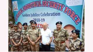 Anupam Kher interacts with CISF jawans at mumbai chembur