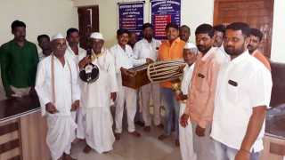 musical equipment distribution to Bhajani Mandal of Kandal gaon