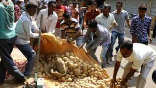 File photo of Farmers Strike in Maharashtra