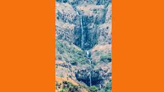 राजापूर - सह्याद्रीच्या कड्यांवरून काजिर्डा (ता. राजापूर) येथे उन्हाळ्यामध्ये कोसळणारा धबधबा.