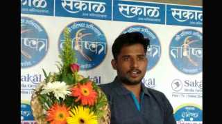 The climber Deepak Konale visited to Sakal media group at latur