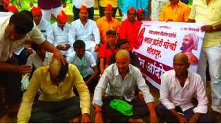 Maratha Kranti morcha protest in solapur