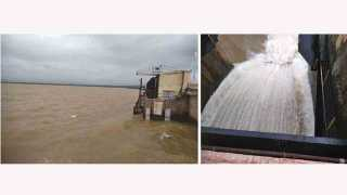 Water released from Veer dam to Neera River Akluj Solapur