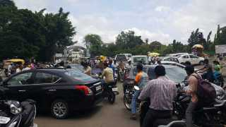 a permanent solution traffic congestion of the Ramdani baramati