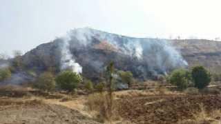 forest kandhana nasik fire