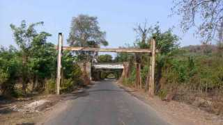 The railway bridge is not built properly in rasayani