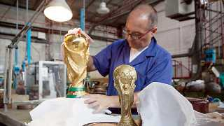 How and where the football trophy is made