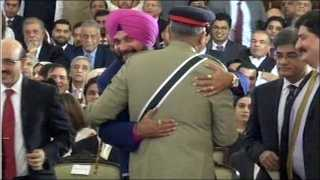 Navjotsingh Sidhu for hugging Pakistan Army chief