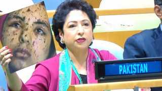 Pakistan's shameful lie at UN: Ambassador Lodhi tries to pass off Palestinian as pellet gun victim from Kashmir