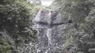 famous waterfall of Amboli in trouble