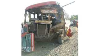 One killed 15 passengers injured in bus accident at nillod