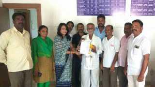 Honor of newspaper vendor Wadgaon Nimbalkar Gram Panchayat Initiative