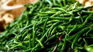 The prices of green chillies collapsed