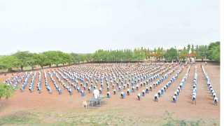 International yoga day at shirsufal parvadi baramati
