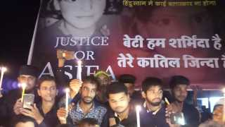 protest for asifa in mahapoli