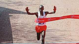 Kipchoge won London Marathon