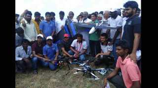 Drone demonstration at Lodaga Latur