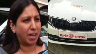 Mayor In UP Seen Travelling In Car Without Number Plate