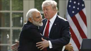 Indian PM Narendra Modi and US President Donald Trump