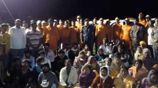 NDRF team has successfully rescued 30 people who were marooned in Parit vasti of Walunj village in Nagar