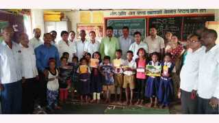 Distribution of educational material to students of seven schools on behalf of Parli Gram Panchayat