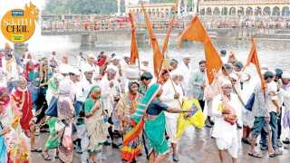 Alandi Palkhi departure towards pune