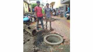 Drainage line rapier work start in dapodi