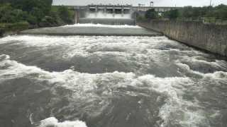 Starting water flow from Chasamak dam Dam is filled with 97 percent