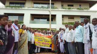EPS 95 pensioners agitation in front of MPs house