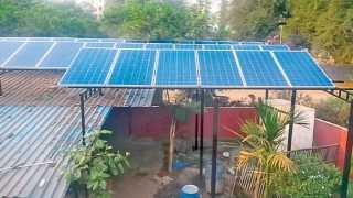 चिंचवडगाव - येथील पुनरुत्थान समरसता गुरुकुलमला एका खासगी कंपनीने सौरऊर्जा प्रकल्प भेट दिला आहे.