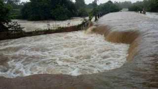 Tioli Bridge is overflow at khanapur