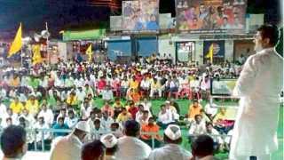 इंदापूर - अहल्यादेवी होळकर जयंतीनिमित्त आयोजित कार्यक्रमात बोलताना जलसंधारण मंत्री राम शिंदे.