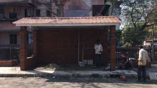 marathi news mumbai creative Bus stop shivsena