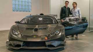 marathi news america Steven Aghakhani Lamborghini Huracan Super Trofeo Evo race car