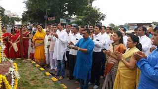 Maheshwari samaj group prayer at juni sangavi