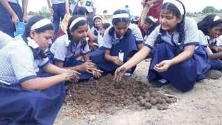 Ten Thousand students made seedballs in boripardhi kedgaon