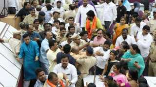 Aurangabad news clash in municipal corporation on vande matram
