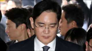 Samsung chief arrested on charges of bribery